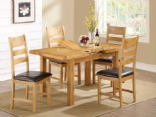 new thick top rustic light oak dining set